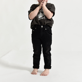 ONETEASPOON 童裝 KIDS HW FREEBIRDS II 牛仔褲-(黑)