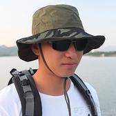 大沿漁夫帽子男夏天大簷遮陽帽戶外登山釣魚騎車太陽帽男士防曬帽 【快速出貨】