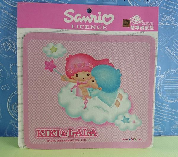 【震撼精品百貨】Little Twin Stars KiKi&LaLa 雙子星小天使~滑鼠墊_粉