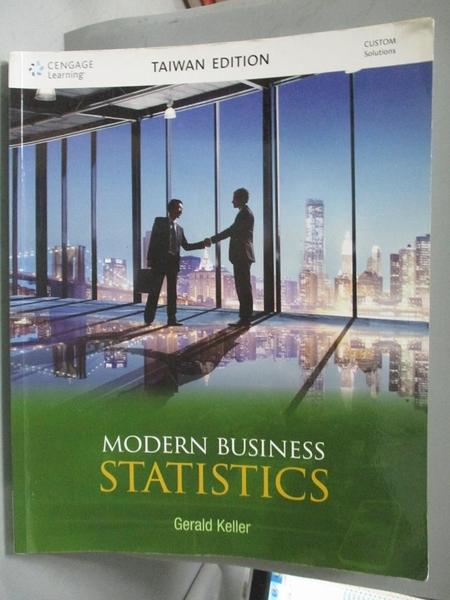 【書寶二手書T2/大學商學_YJC】Modern business statistics_Gerald Keller[作