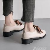 小皮鞋女鞋子新款潮鞋學院風百搭秋季英倫秋季加絨復古單鞋 萬聖節全館免運