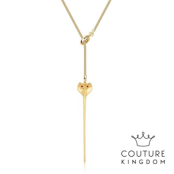 Couture Kingdom 迪士尼阿拉丁賈方蛇形鍍金項鍊 Aladdin Jafar Snake Staff Necklace