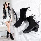 馬丁靴女短靴秋靴子棉鞋平底鞋子中筒靴女靴女鞋 【東京衣秀】