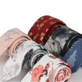 中國風復古風水墨畫學院畢業聚會男領帶時尚花語7CM 棉印花領帶 免運直出 交換禮物