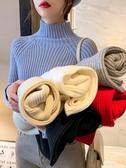 針織衫半高領加厚毛衣女裝秋冬外穿韓版修身針織打底衫新款套頭上衣 易家樂