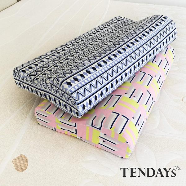 記憶枕_TENDAYs-DS柔眠枕(原民藍)8cm高