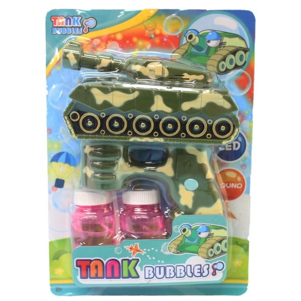 戰車泡泡槍 + 泡泡水(附電池)/一支入{促180} 聲光電動泡泡槍~CF138616