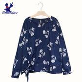 【秋冬降價款】American Bluedeer-印花綁帶上衣