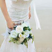 新娘手捧花韓式接親手捧花新娘結婚花球森系仿真鮮花小清新婚紗攝影旅拍WD 至簡元素
