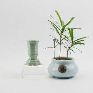 龍泉青瓷 梅子青香道瓶