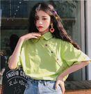 批發搶購促銷打折大碼T恤0126短袖T恤港風學生中長款網紅ins半袖F1F033A朵維思