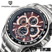 『潮段班』【SBCX0005】原價12800 原廠代理 PAGANI DESIGN 帕加尼 CX-0005 小三針 日曆 防水 石英 鋼帶手錶