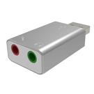 AllEasy USB 2.0 音效適配器 適用帶有USB音頻設備的揚聲器耳機和麥克風插孔 [2美國直購]