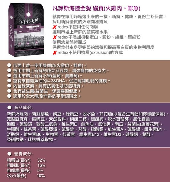 ◆MIX米克斯◆凡諦斯.海陸全餐貓糧 (火雞肉、鯡魚)10磅,貓飼料,不使用任何肉粉