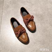 秋日系原宿娃娃鞋 甜美系蝴蝶結平底圓頭小皮鞋可愛蘿莉鞋 DN19269『科炫3C』