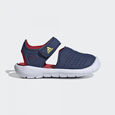 Adidas Fortaswim Stripes I [FW6057] 小童鞋 涼鞋 游泳 魔鬼氈 排水 唐老鴨 藍 紅