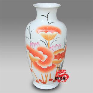 景德鎮陶瓷花瓶荷塘清趣(大)