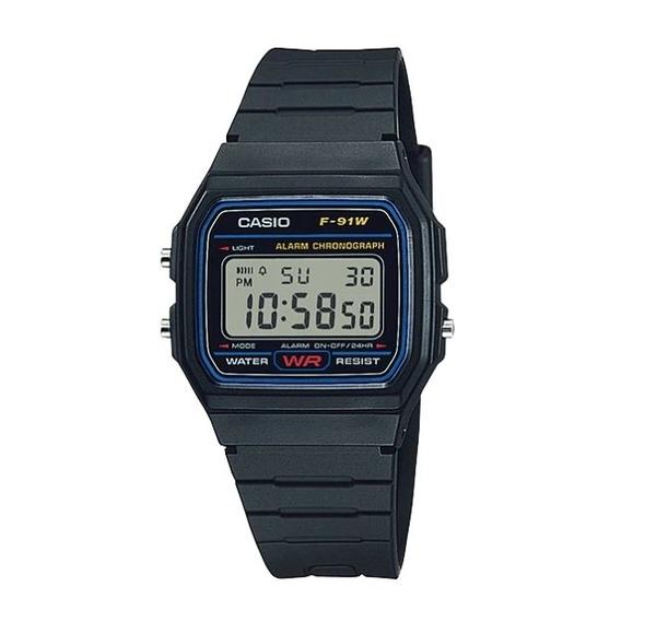 【CASIO宏崑時計】CASIO卡西歐復古電子錶 F-91W-1 生活防水  台灣卡西歐保固一年