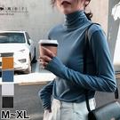 【QV3027】魔衣子-素色高領長袖上衣