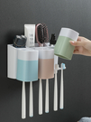 牙膏牙刷置物架 吸壁式衛生間浴室收納壁挂免打孔洗手台吸盤洗漱架  降價兩天