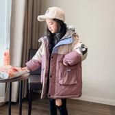 兒童棉衣 女童2019新款韓版洋氣兒童加厚外套冬裝中長棉襖大童羽絨棉服 【快速出貨】