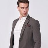 SST&C 男裝 深棕格紋單西外套 | 0612009001