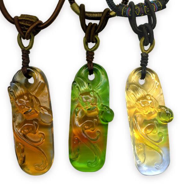鹿港窯~居家開運水晶琉璃項鍊~祥龍 附精美包裝◆免運費送到家◆