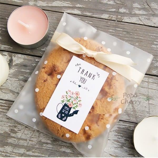 6入  文青花束 感謝貼紙 封口貼紙 餅乾貼