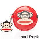 Backbager 背包族【Paul Frank大嘴猴】Mr.3D系列零錢包/化妝包/小包/萬用包_紅色