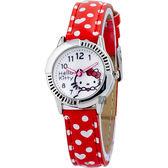 HELLO KITTY 凱蒂貓 甜美公主女錶-白x紅/28mm HKFR1242-04B