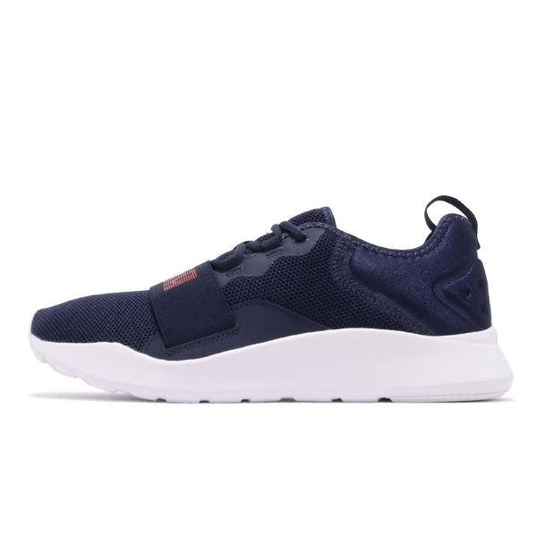 Puma Wired Pro 男款黑色紅字慢跑鞋-NO.36912604
