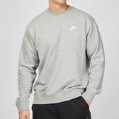 Nike Club Hoodie 男子 灰色 棉質 刺繡 刷毛 保暖 長袖 大學T BV2667-063