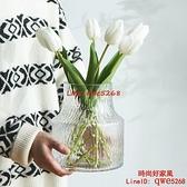 風格簡約透明花瓶IG風水養鮮花玻璃插花瓶客廳擺件網紅裝飾【時尚好家風】