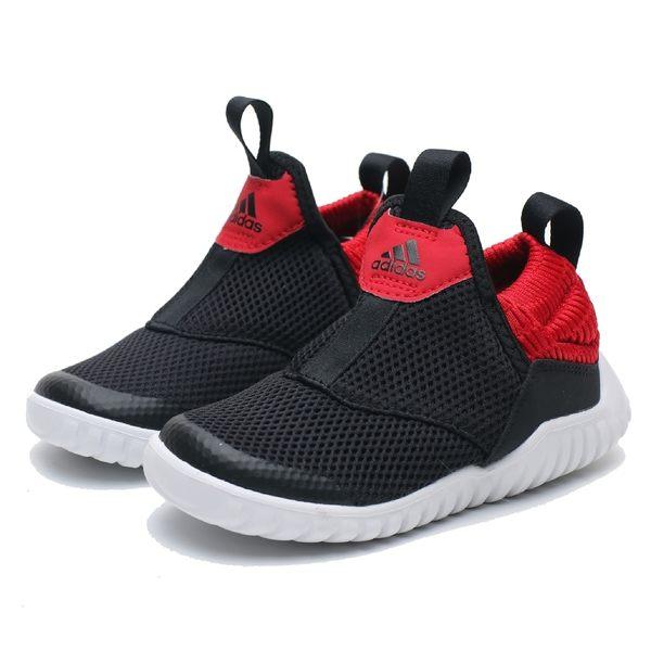 ADIDAS RAPIDAZEN I 黑 紅 襪套式 運動鞋 休閒鞋 小童 (布魯克林) EE9327
