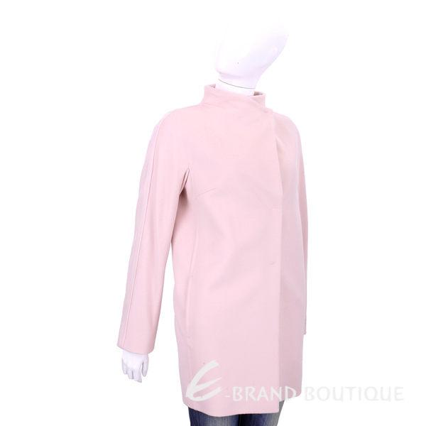 Max Mara 粉色隱藏釦式羊毛大衣 1540870-05