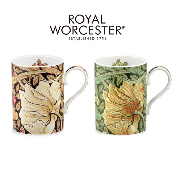 英國 Morris & Co 設計款骨瓷馬克杯禮盒組- 海綠(2色可選)