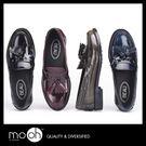 歐美英倫風漆皮流蘇樂福鞋 復古真皮豆豆鞋 套腳低跟皮鞋 流蘇懶人鞋 mo.oh (歐美鞋款)