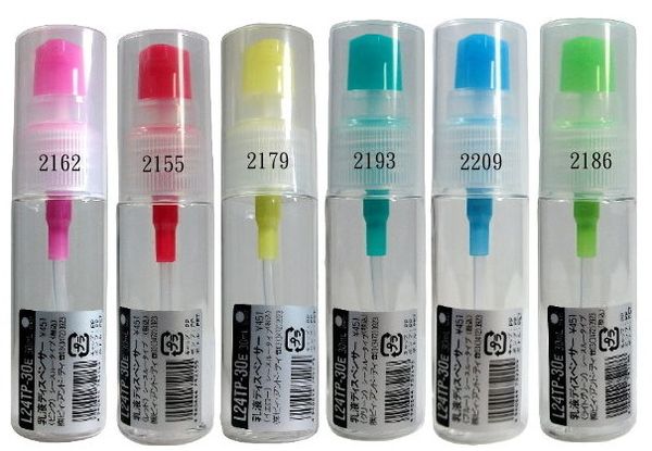 日本空瓶B+D乳液瓶L24TP-30E /日本製壓頭 /可分裝酒精或消毒水/隨機出貨不挑色 材質塑膠1號PET