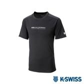 K-SWISS PF Solid Tee排汗T恤-女-黑