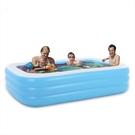 150×110×50cm加厚充氣室內戶外泳池 嬰幼兒球池 水池折疊收納充氣游泳池寶寶洗澡【SV9848】BO雜貨