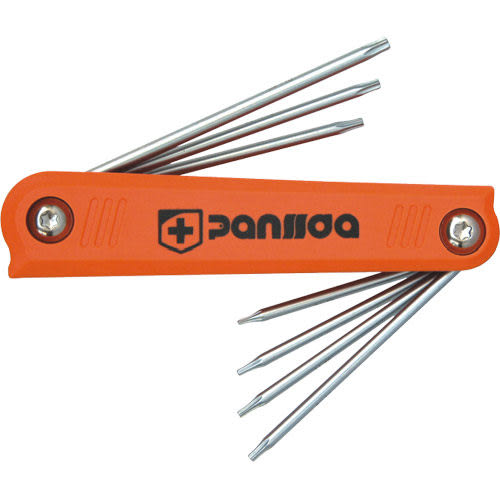 Panssda百事達 7件式折疊內六角扳手-星形中空扳手組/星型中空扳手組