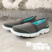 FILA 灰水藍 懶人鞋 休閒鞋 健走鞋 女 (布魯克林)  5C202Q443