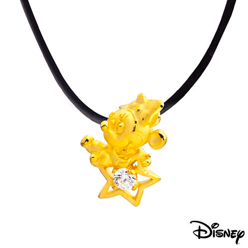 Disney迪士尼金飾 許願美妮 黃金墜子 送項鍊