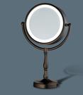 【麗室衛浴】國產 雙面化妝燈鏡  MD0159-L  古董棕