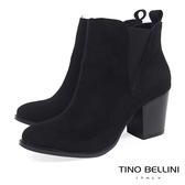 ★零碼出清★Tino Bellini流行不敗側V彈性高跟短靴_黑 A69069 2016AW
