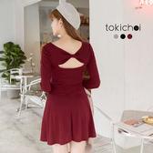東京著衣-tokicho-多色蝴蝶結美背修身洋裝-S.M.L(172537)