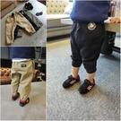 長褲 韓版男童純色休閒長褲 W65070...