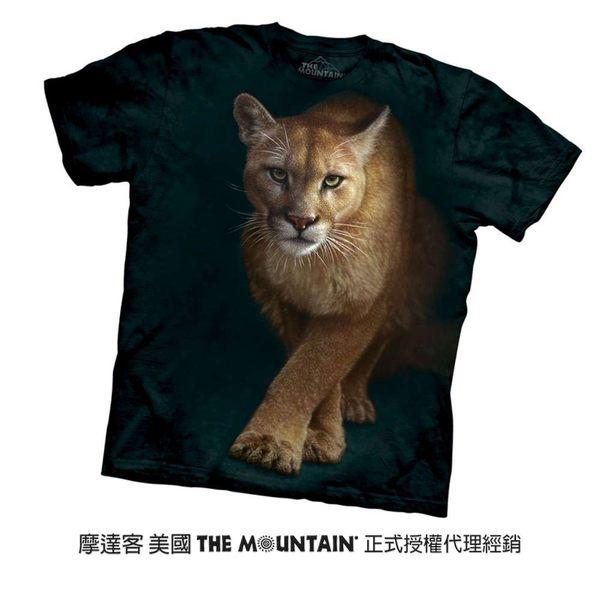 【摩達客】(預購)美國進口The Mountain  狩獵獅 純棉環保短袖T恤(10416045032a)