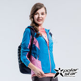 PolarStar 女 休閒抗UV連帽外套『海藍』P18108 休閒 露營 防曬 透氣 吸濕 排汗 彈性 抗紫外線