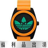 【台南 時代鐘錶 Adidas】愛迪達 ADH2844 炫彩螢光色系 三葉草橡膠腕錶 公司貨